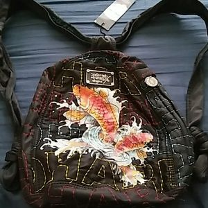 Ed Hardy Koi Purse Backpack